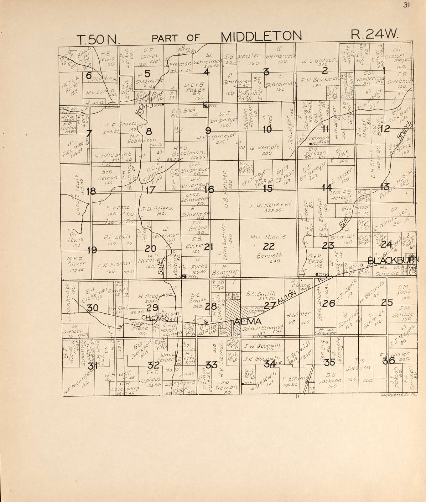 Atlas of Lafayette County, Missouri.