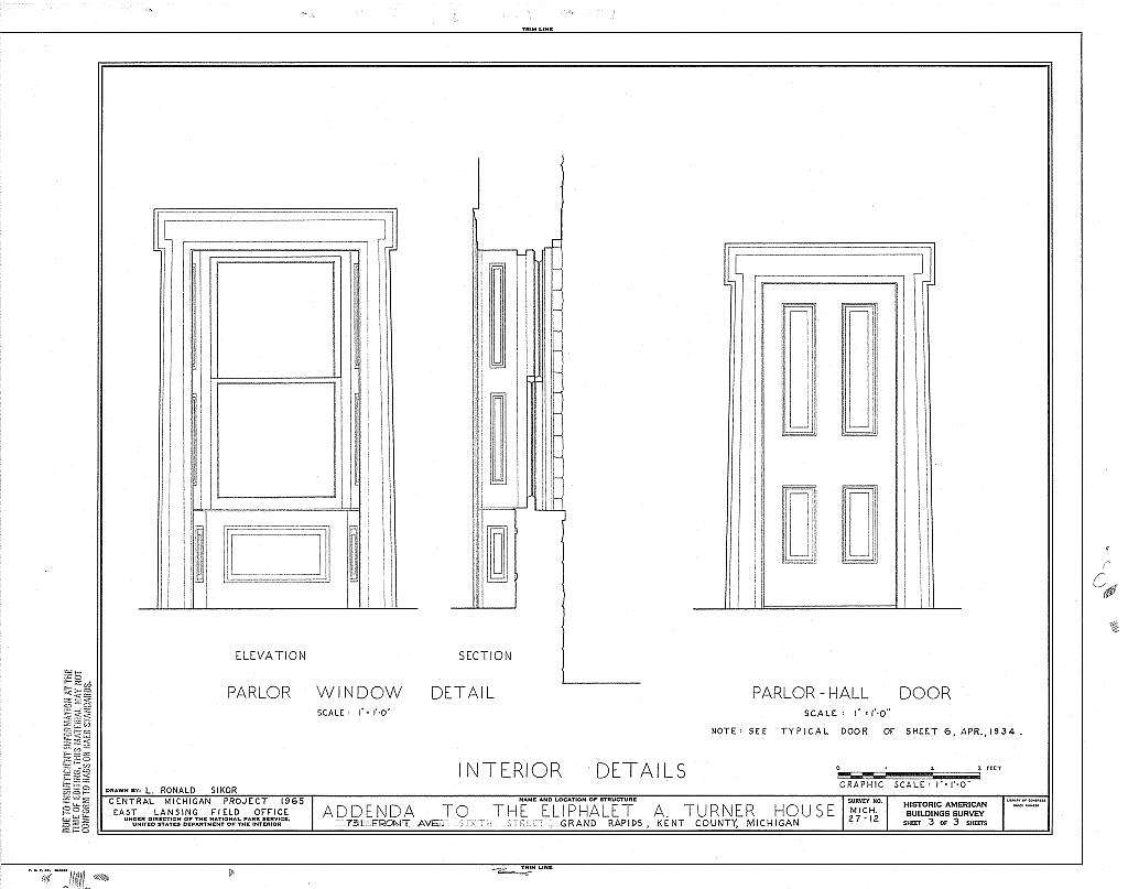 Eliphalet H.  Turner House, 731 Front Avenue Northwest, Grand Rapids, Kent County, MI
