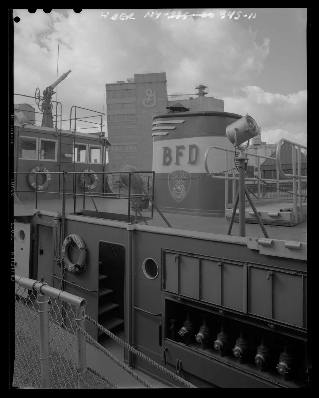 Fireboat EDWARD M. COTTER, Moored on the Buffalo River at 155 Ohio Street, Buffalo, Erie County, NY