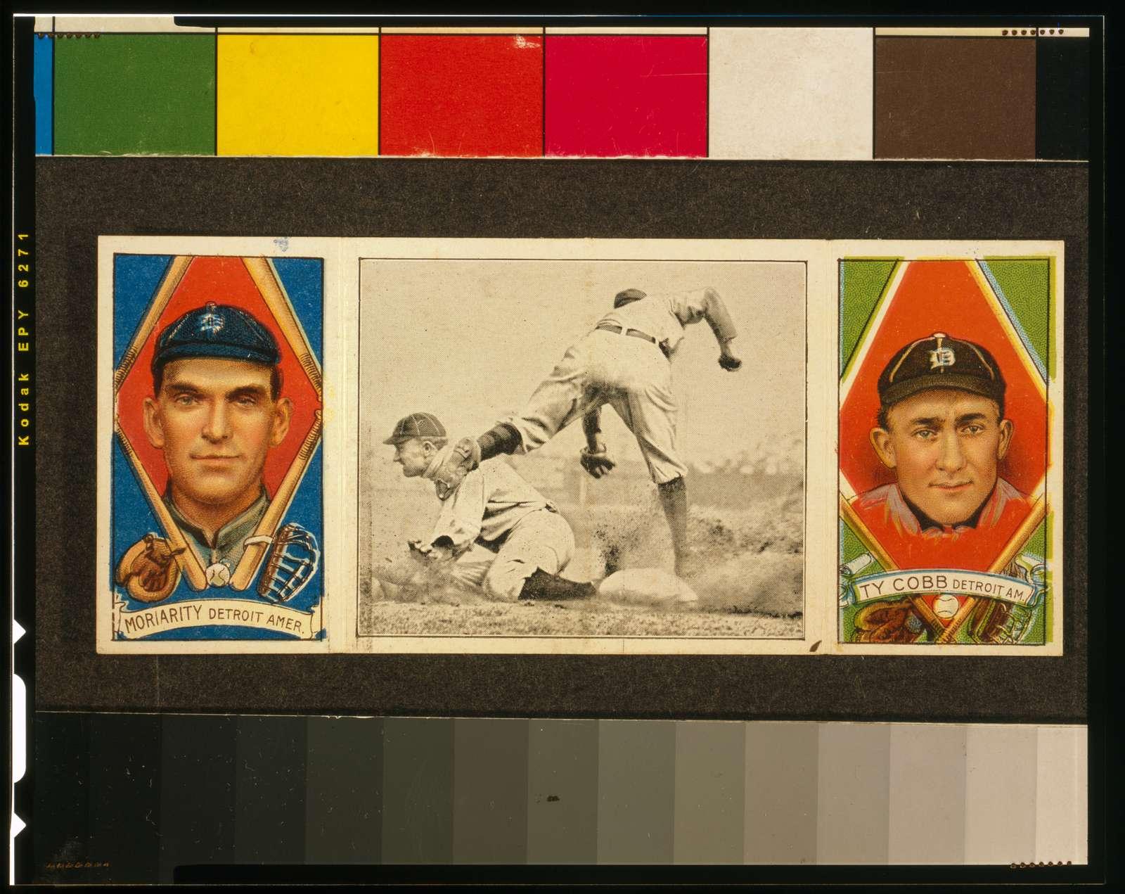 [Geo. Moriarty/Ty Cobb, Detroit Tigers, baseball card portrait]