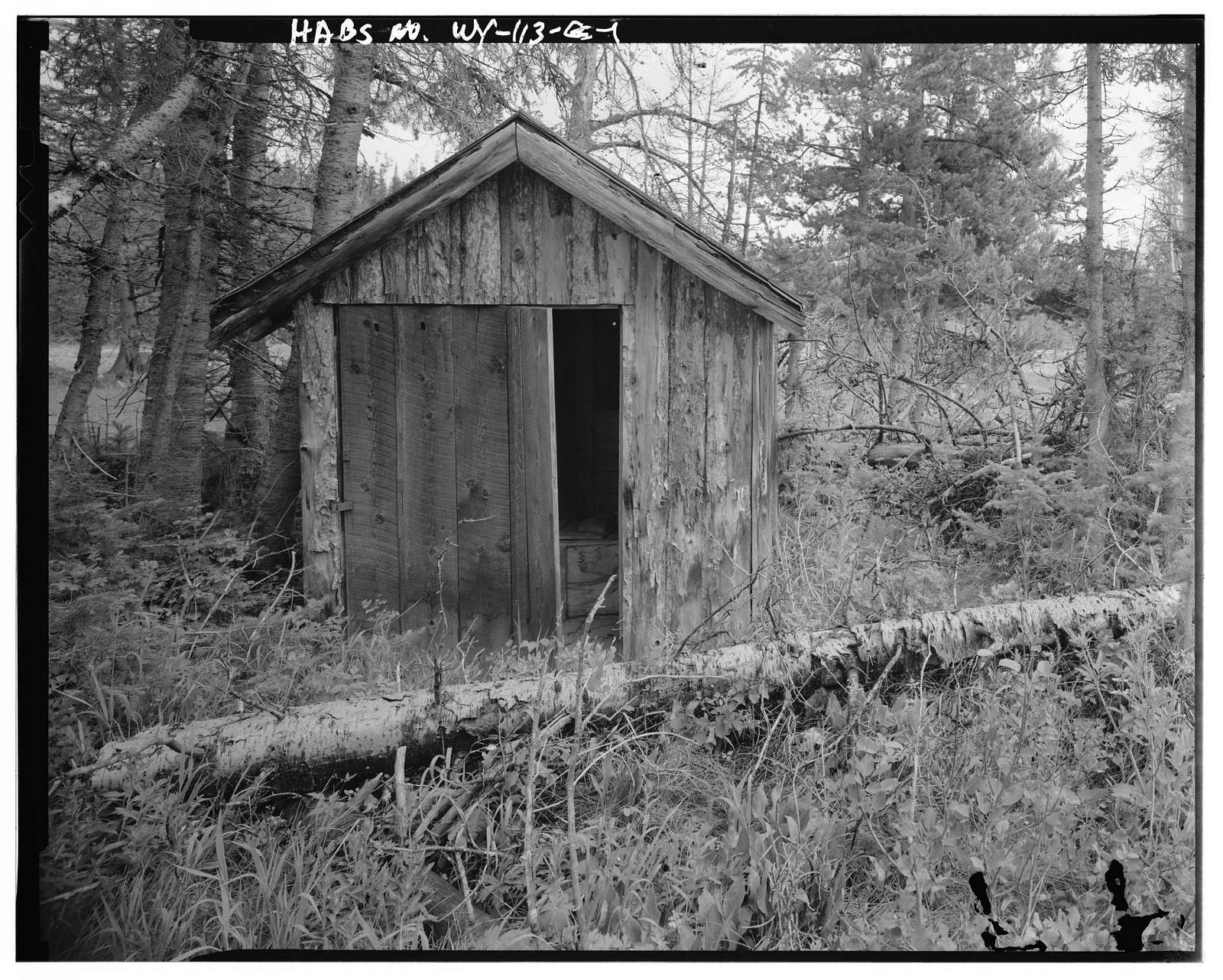 Geraldine Lucas Homestead, Outhouse, West bank Cottonwood Creek, 2.5 miles downstream from Jenny Lake, Moose, Teton County, WY