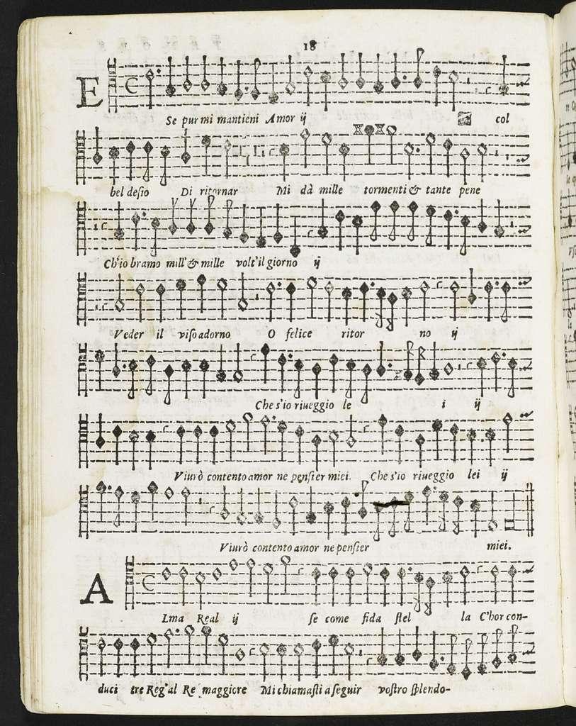 Il  primo libro delle fiamme vaghi et dilettevoli madrigali dell'eccellente mvsico Cipriano Rore à qvattro et à cinque voci