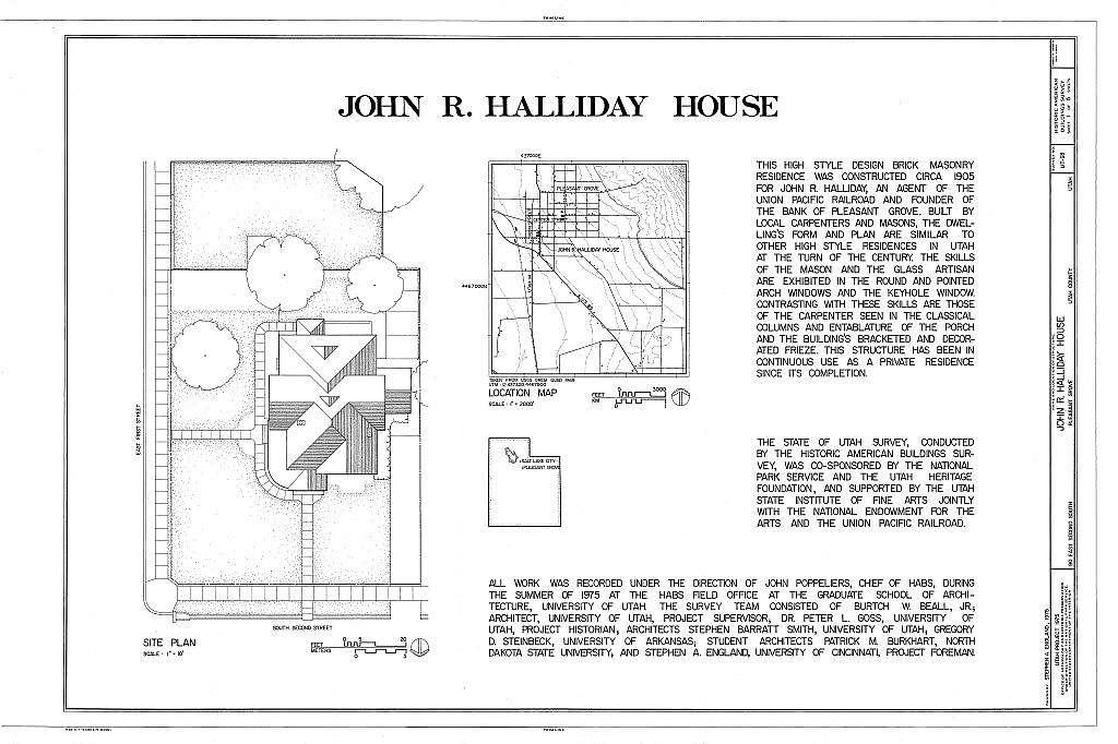 John R. Halliday House, 90 East Second North, Pleasant Grove, Utah County, UT