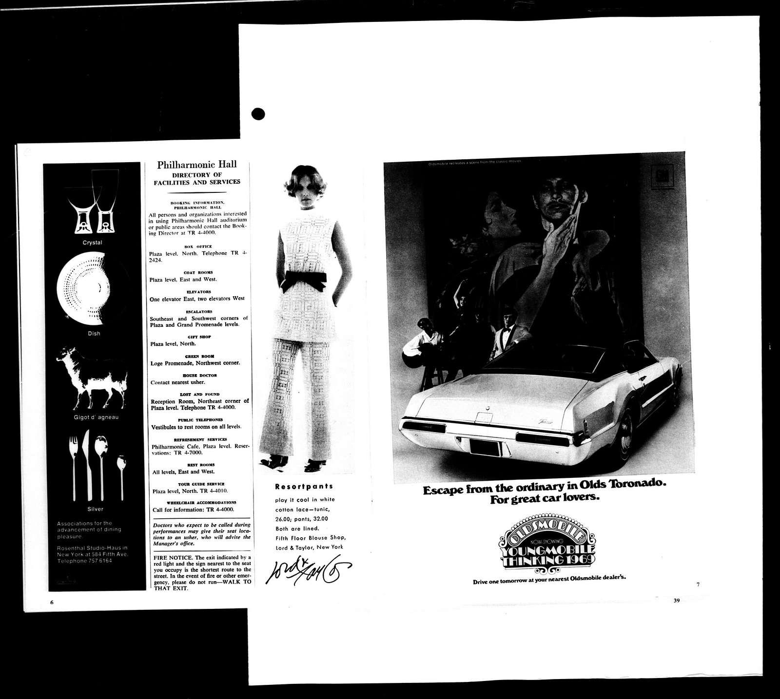 Leonard Bernstein Scrapbook: Vol. 68. Jan. 11, 1969-July 1, 1969