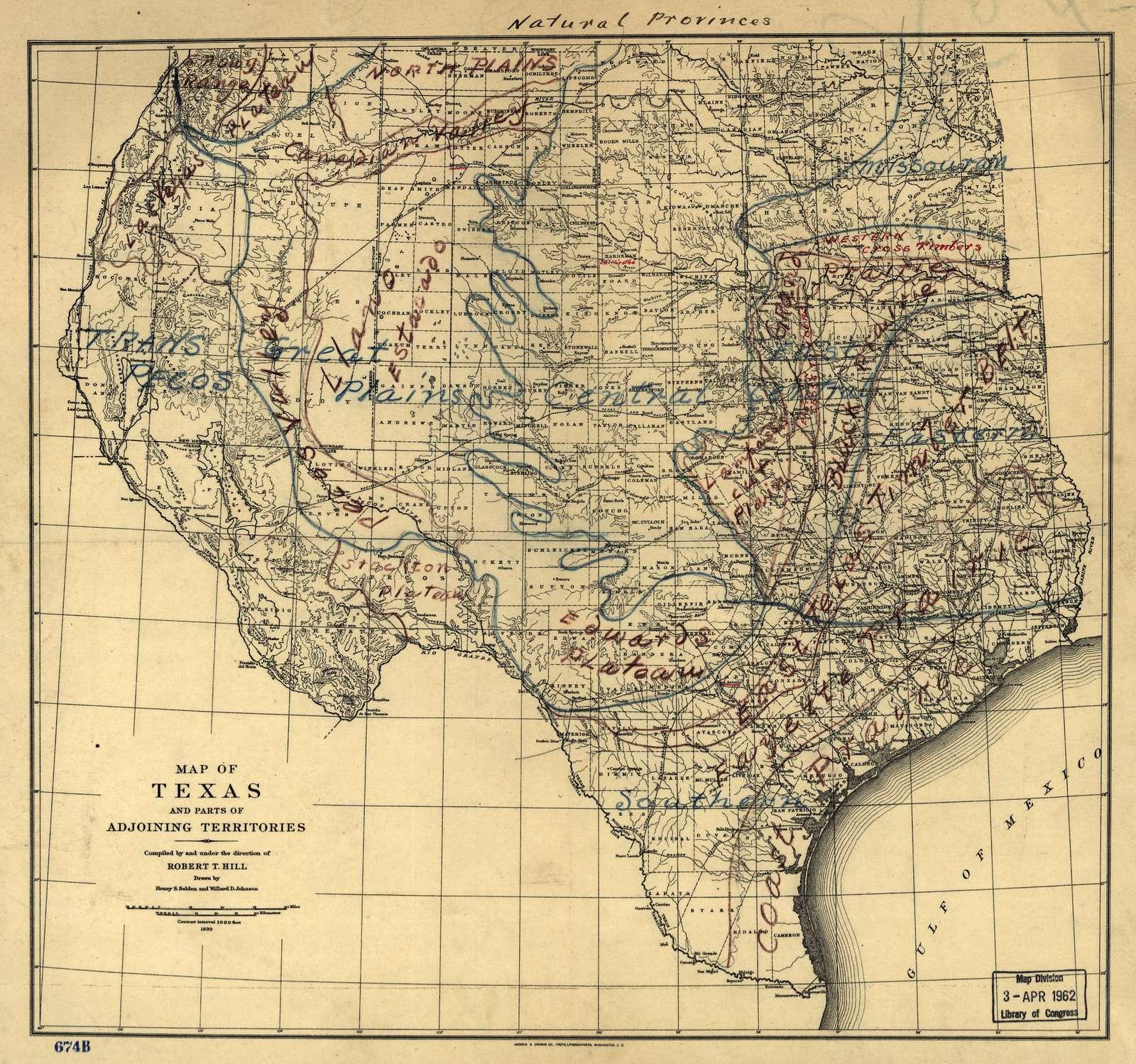 Natural provinces : [Texas].