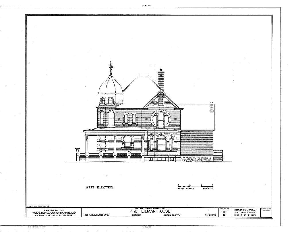 P. J. Heilman House, 401 East Cleveland Avenue, Guthrie, Logan County, OK