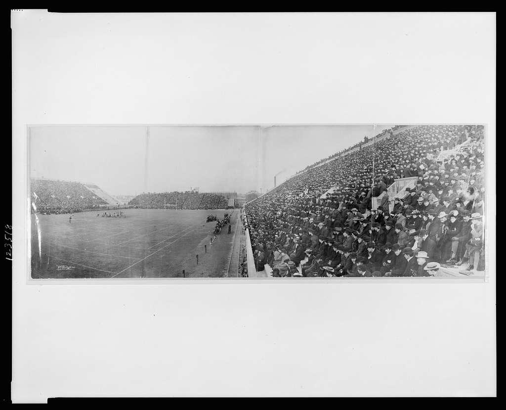 [Panoramic photo of Harvard - Dartmouth football game, Saturday, Nov. 14th, 1903]