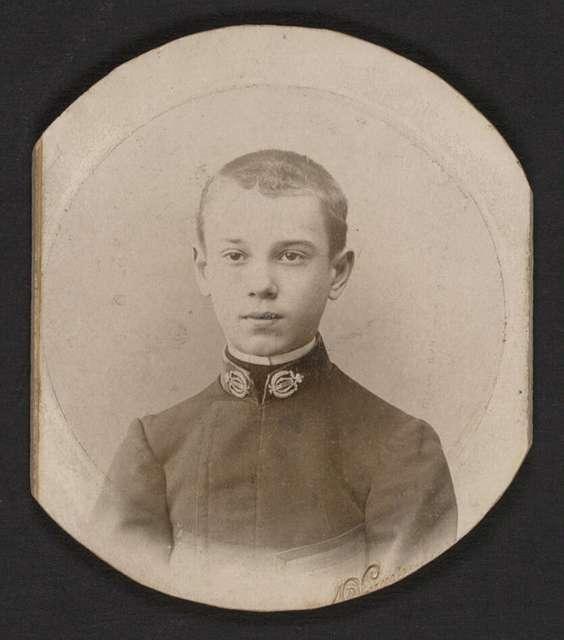 Photograph of Vaslav Nijinsky, 1900, no photographer
