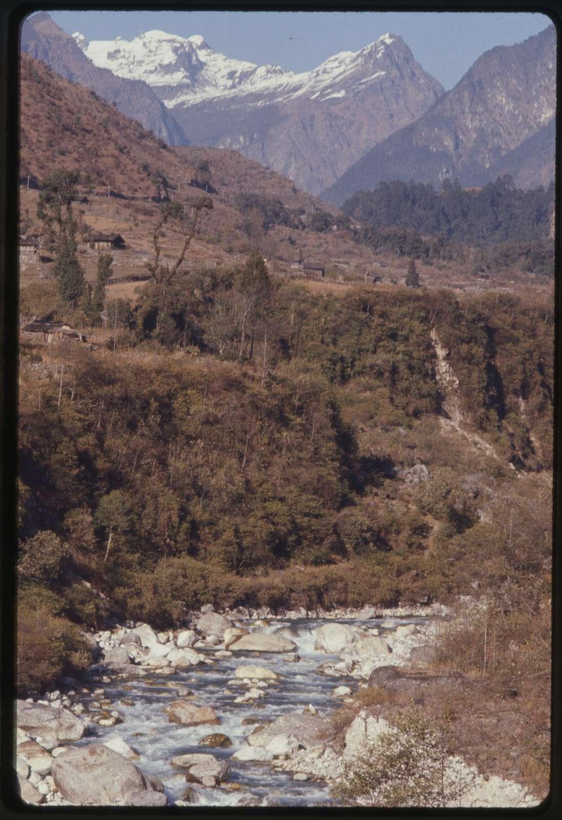 River running thru village, Lachung, Sikkim