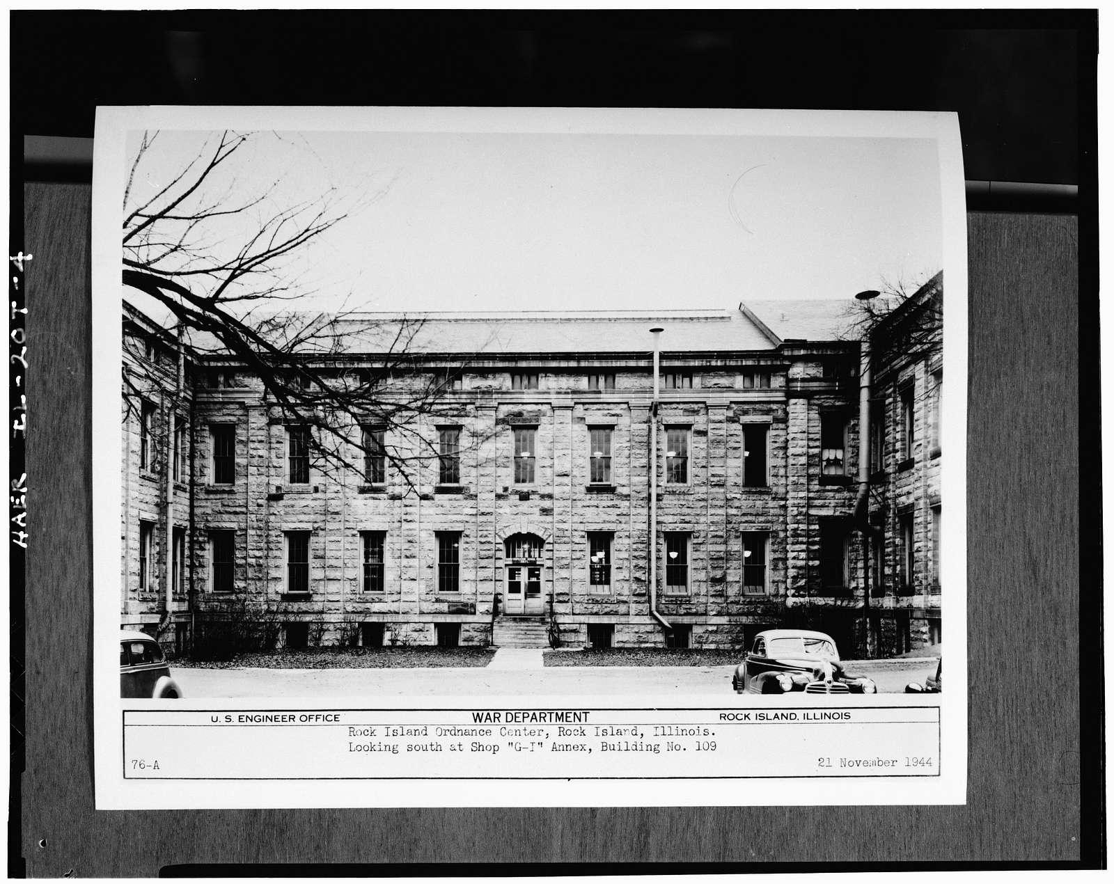 Rock Island Arsenal, Building No. 109, Rodman Avenue & Fourth Street, Rock Island, Rock Island County, IL