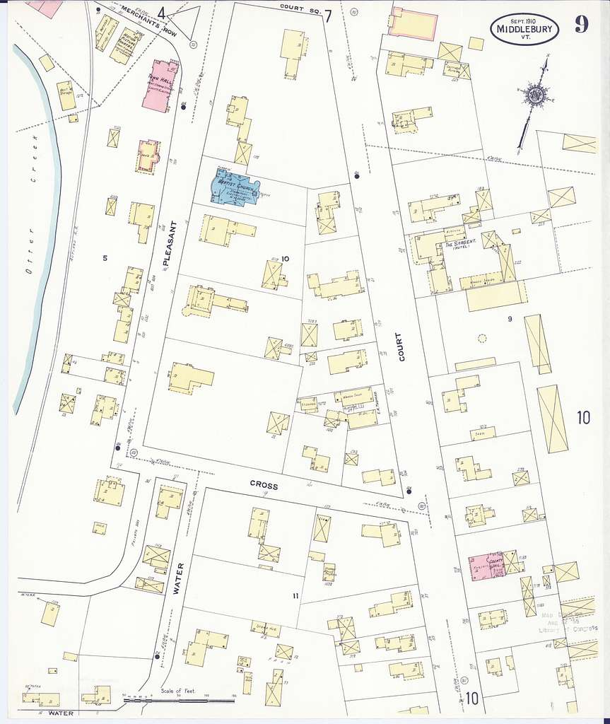 Sanborn Fire Insurance Map from Middlebury, Addison County ...