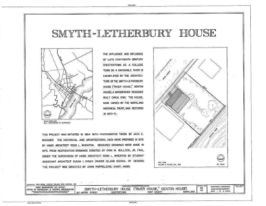 Smyth-Letherbury House, 107 Water Street, Chestertown, Kent