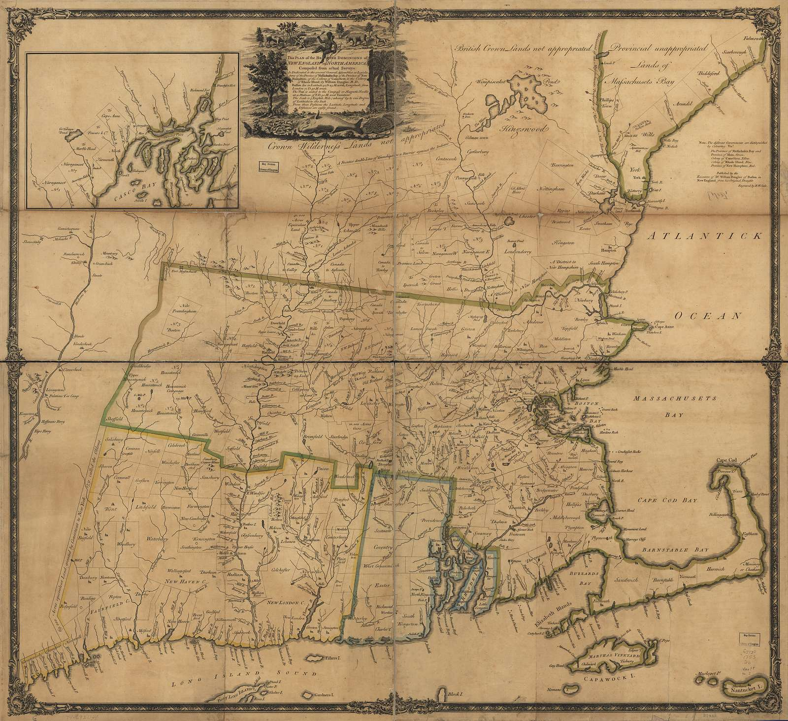 This plan of the British dominions of New England in North America.