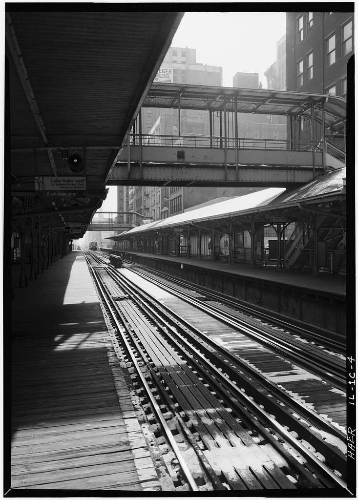 Union Elevated Railroad, Adams Street Station, Wabash Avenue, Chicago, Cook County, IL