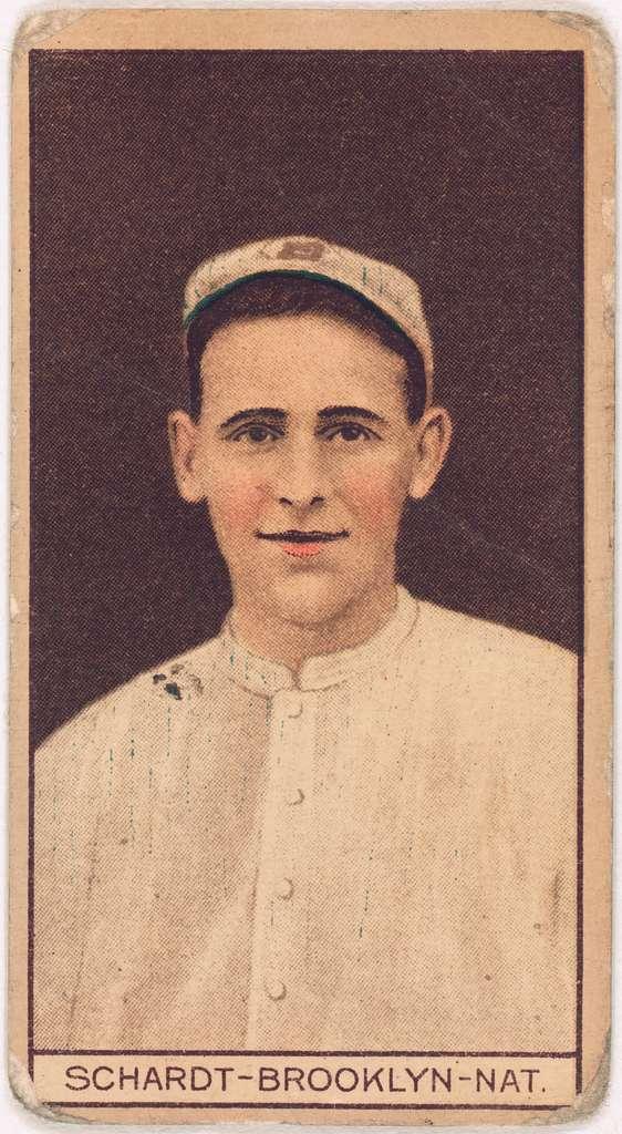 [Wilbur Schardt, Brooklyn Dodgers, baseball card portrait]