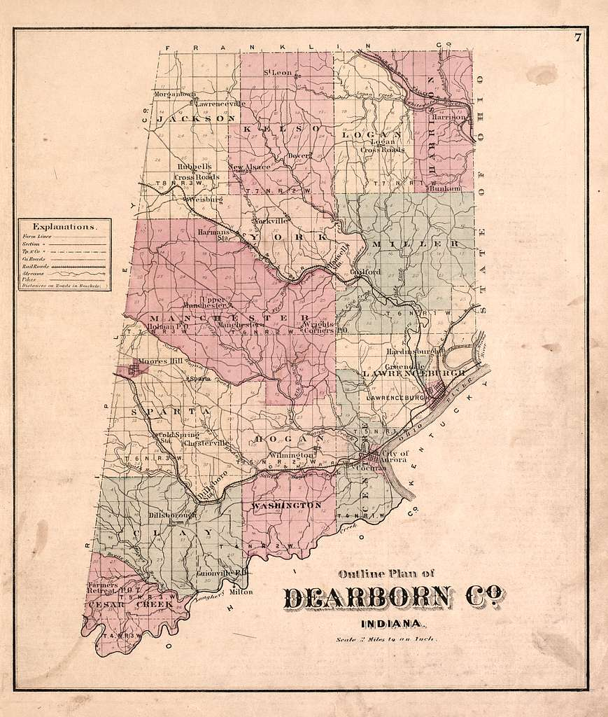 Atlas of Dearborn County, Indiana : to which is added a map ...