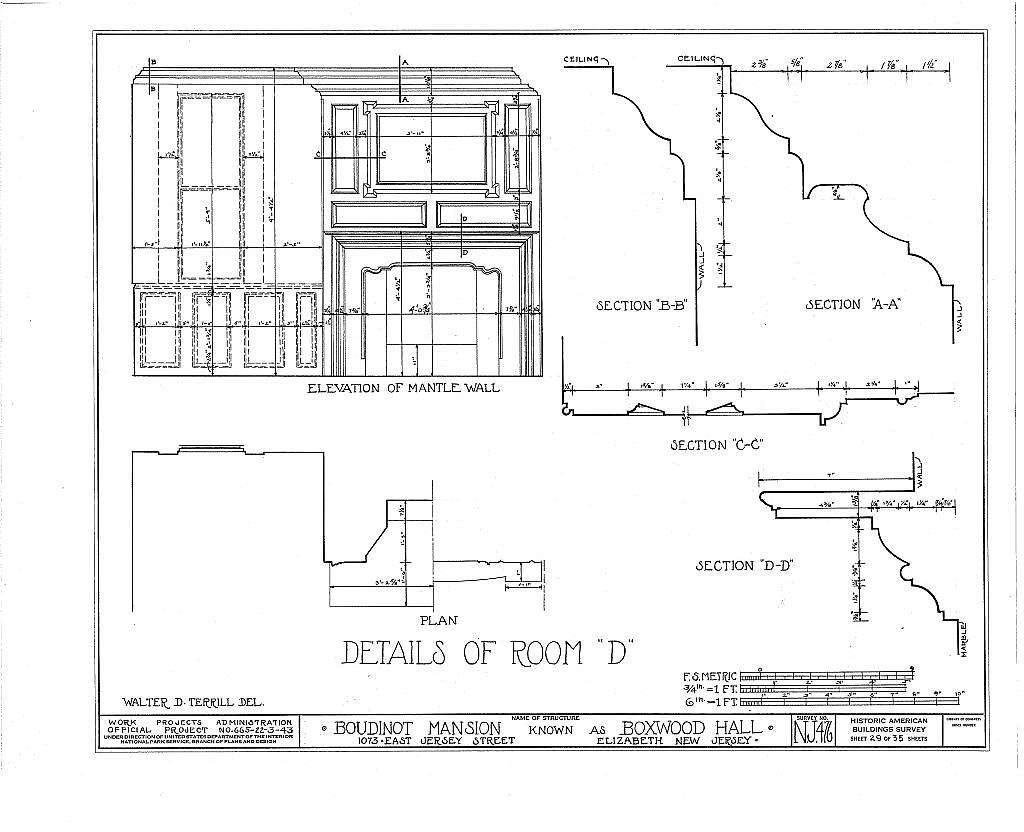 Boudinot Mansion, 1073 East Jersey Avenue, Elizabeth, Union County, NJ