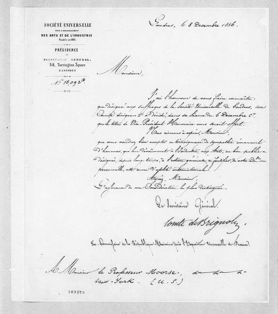 Bound volume---6 October 1856-7 July 1857