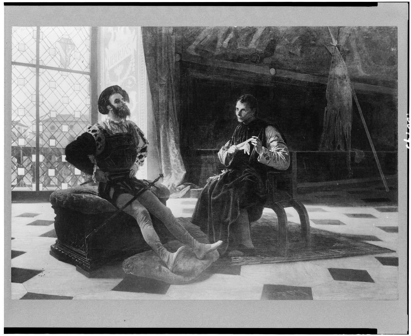 [Cesare Borgia seated with Machiavelli]