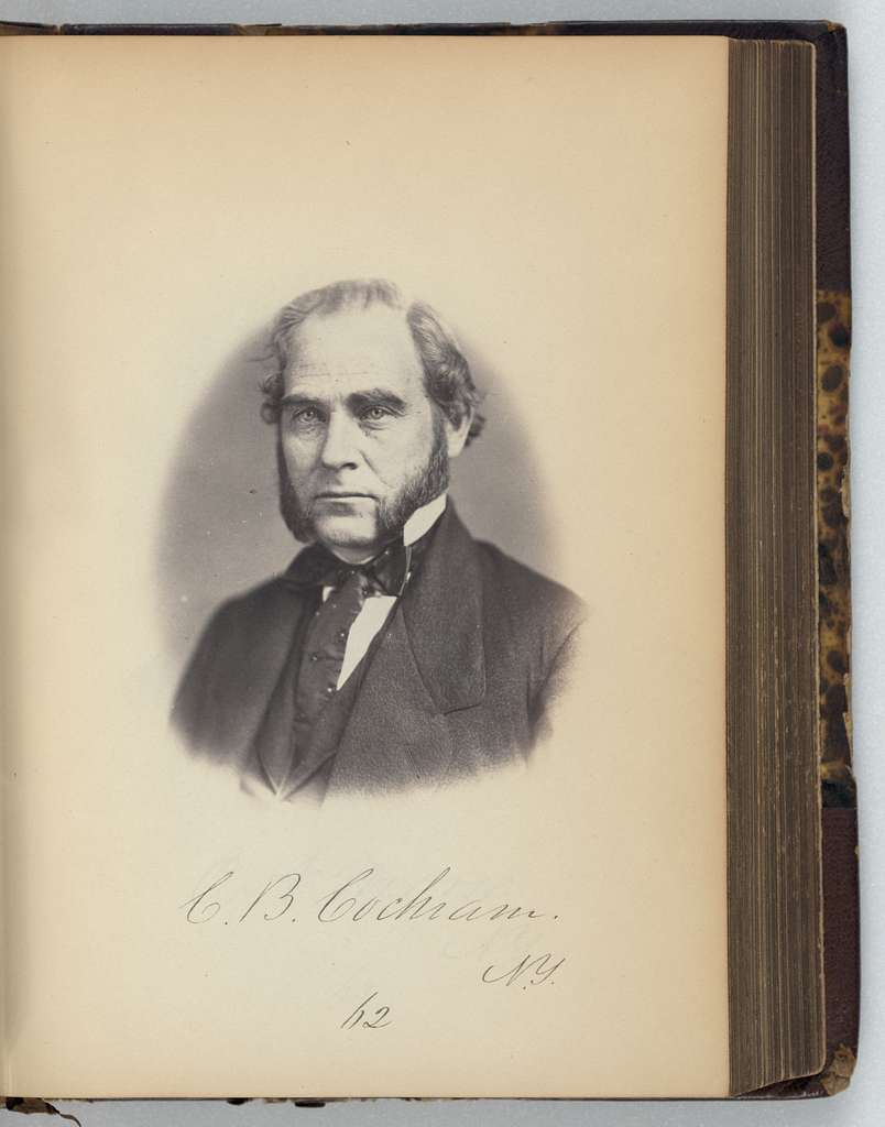[Clark B. Cochrane, Representative from New York, Thirty-fifth Congress, half-length portrait]