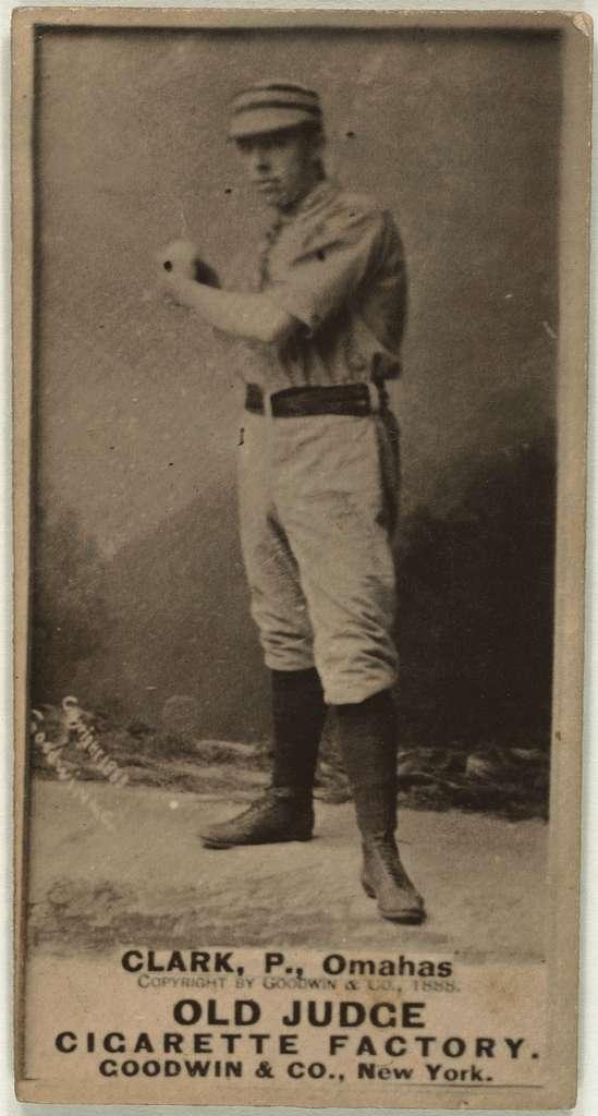 [Clark, Omaha Team, baseball card portrait]