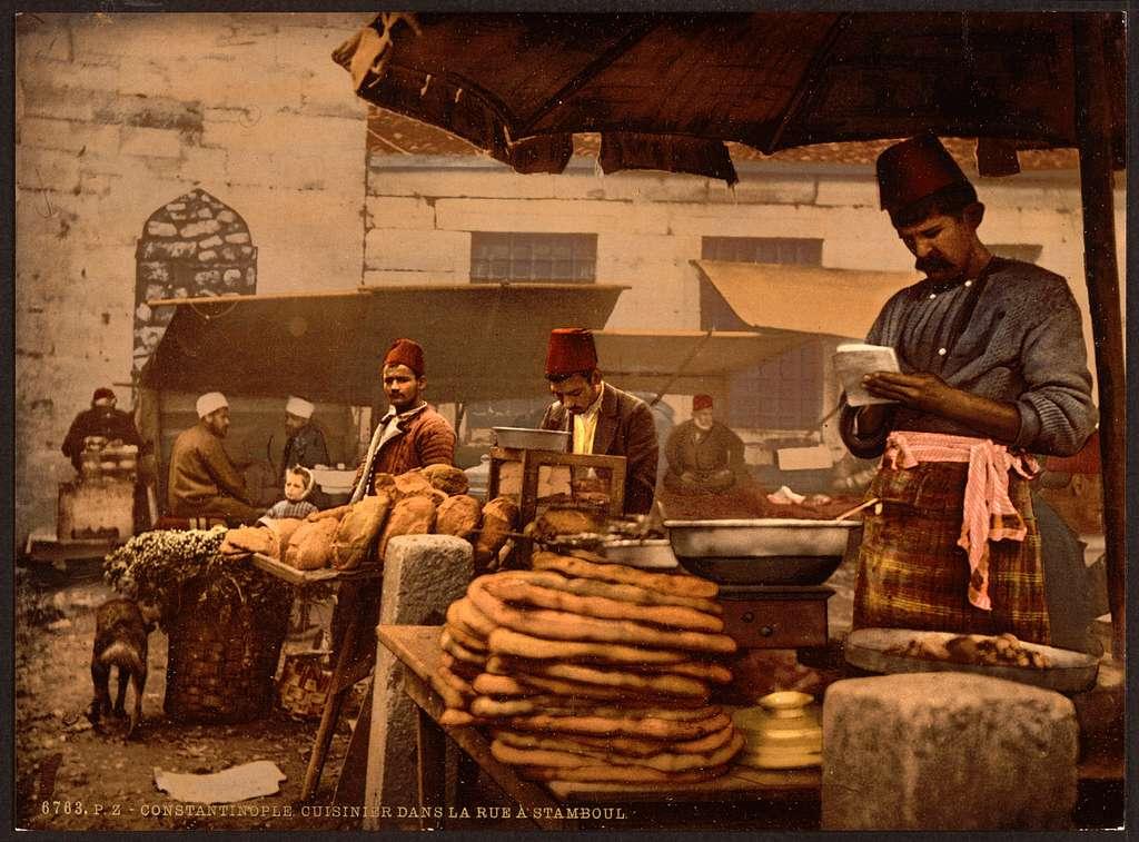 [Cook in the rue de Stamboul, Constantinople, Turkey]