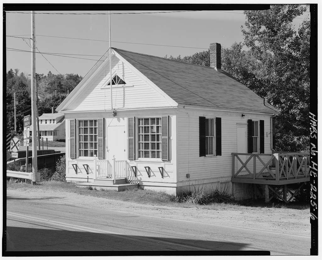East Machias Post Office, Bridge Street at head of High Street, East Machias, Washington County, ME