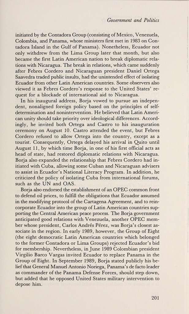 Ecuador : a country study /