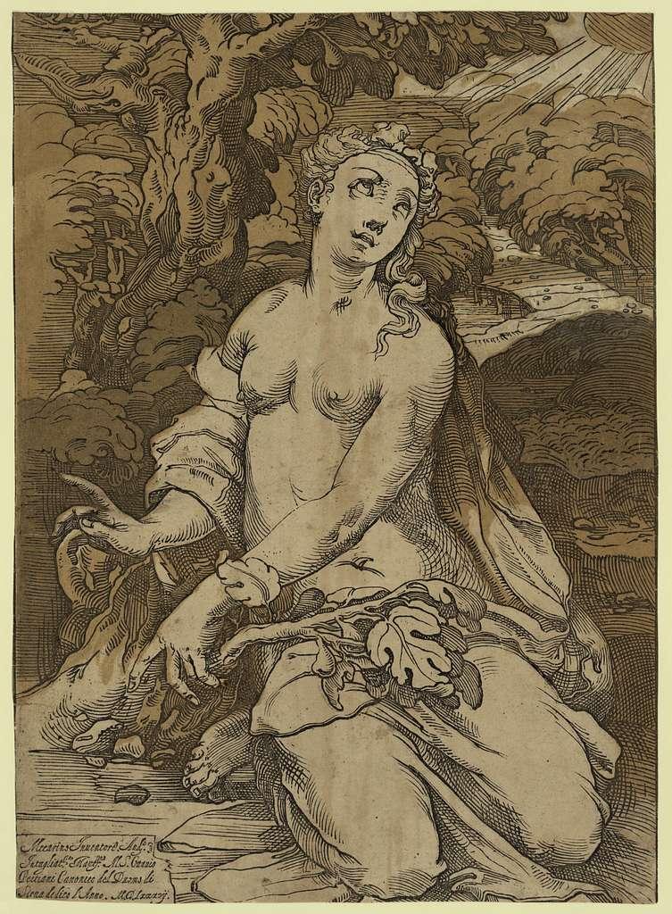 Eve after the Fall / Mecarino inventore, Anda. intagliat[o]re Mant[ua]no.