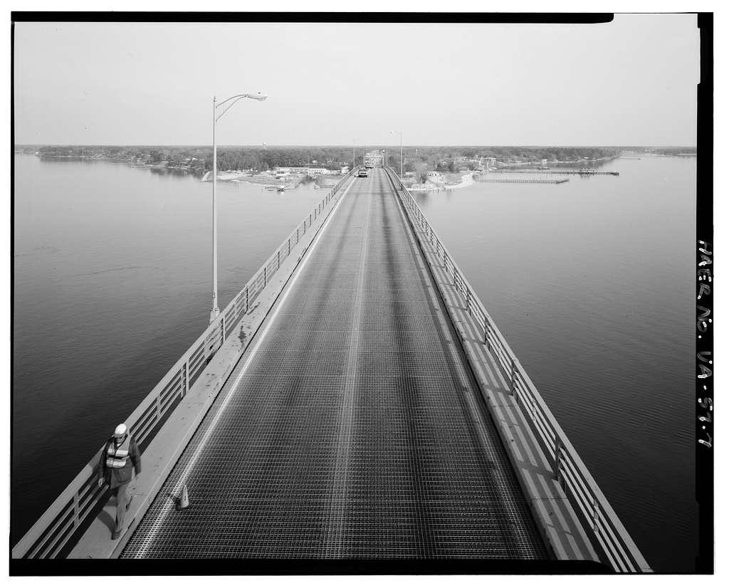George P. Coleman Memorial Bridge, Spanning York River at U.S. Route 17, Yorktown, York County, VA