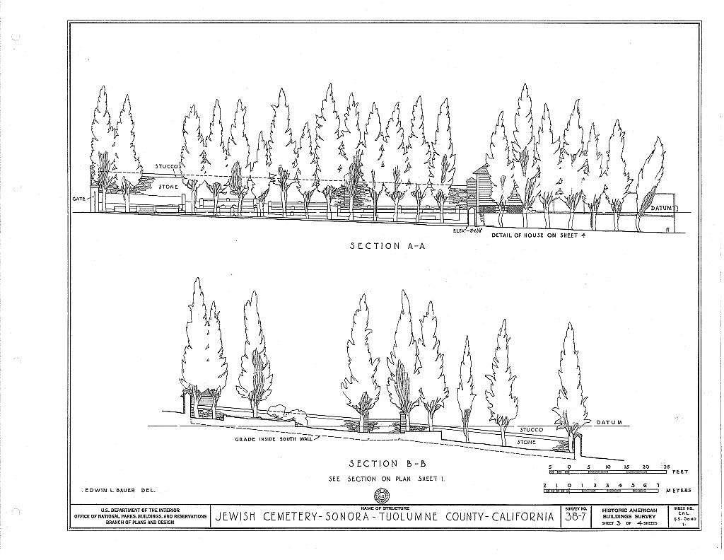 Grave Stones, Jewish Cemetery, Yaney Avenue, Sonora, Tuolumne County, CA