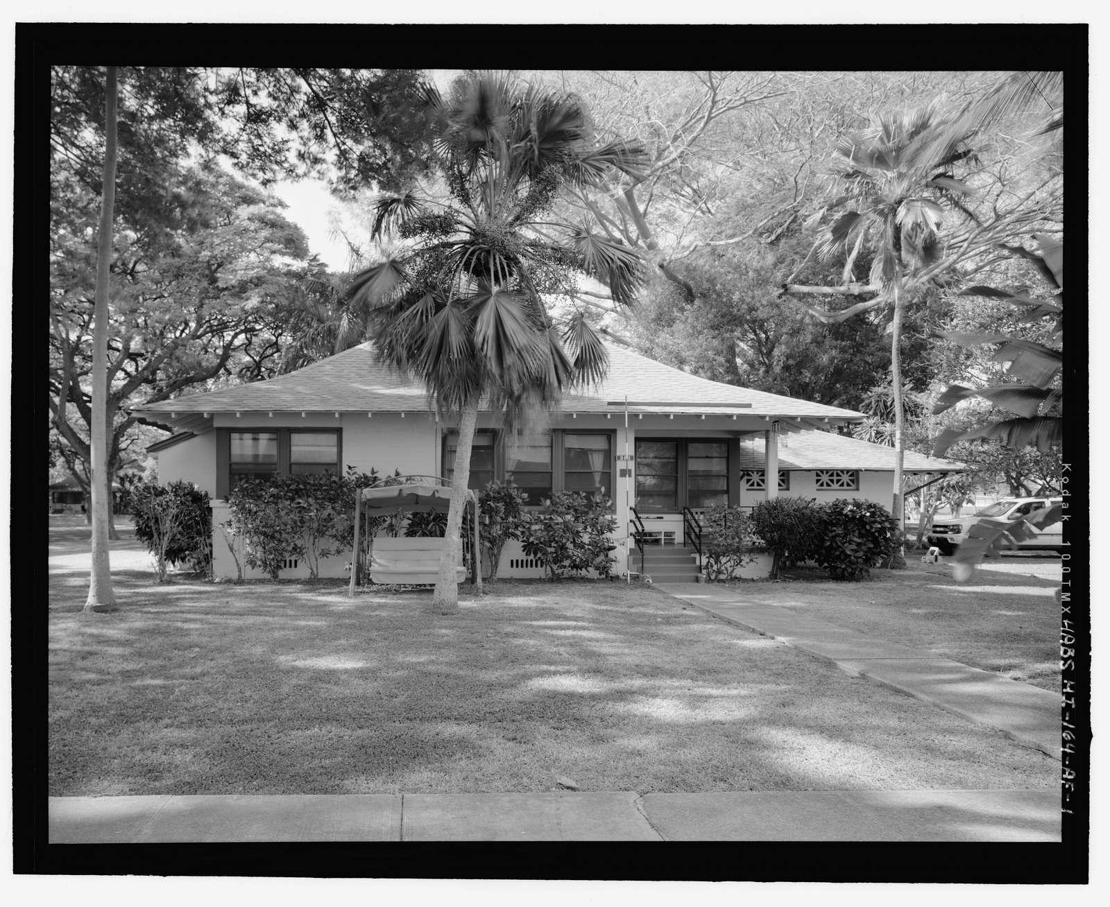 Hickam Field, NCO Housing Type 2, 301 Eleventh Street, Honolulu, Honolulu County, HI