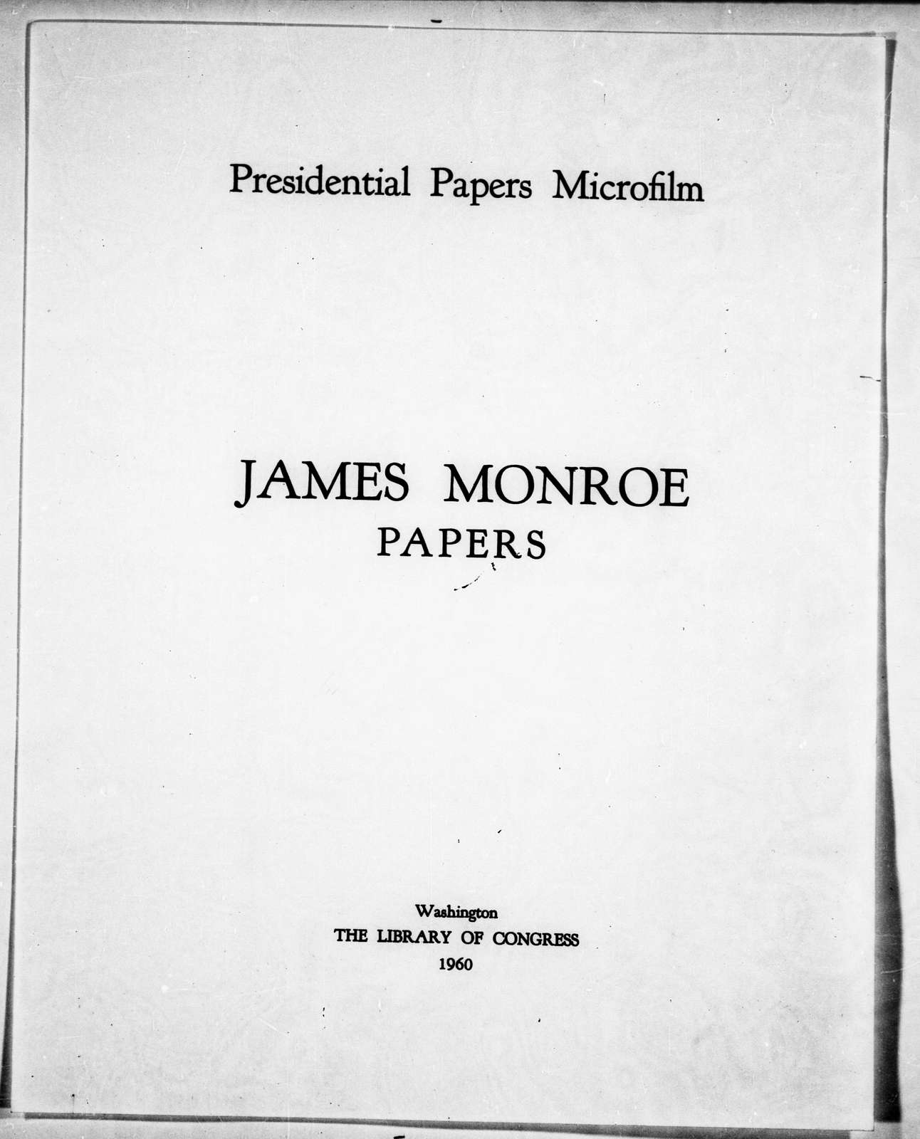 James Monroe Papers: Series 3, Letterbooks and Account Book, 1794-1806; Vol. 3, Journal-Account Book, 1794-1796, 1801-1802 (Reel 11)