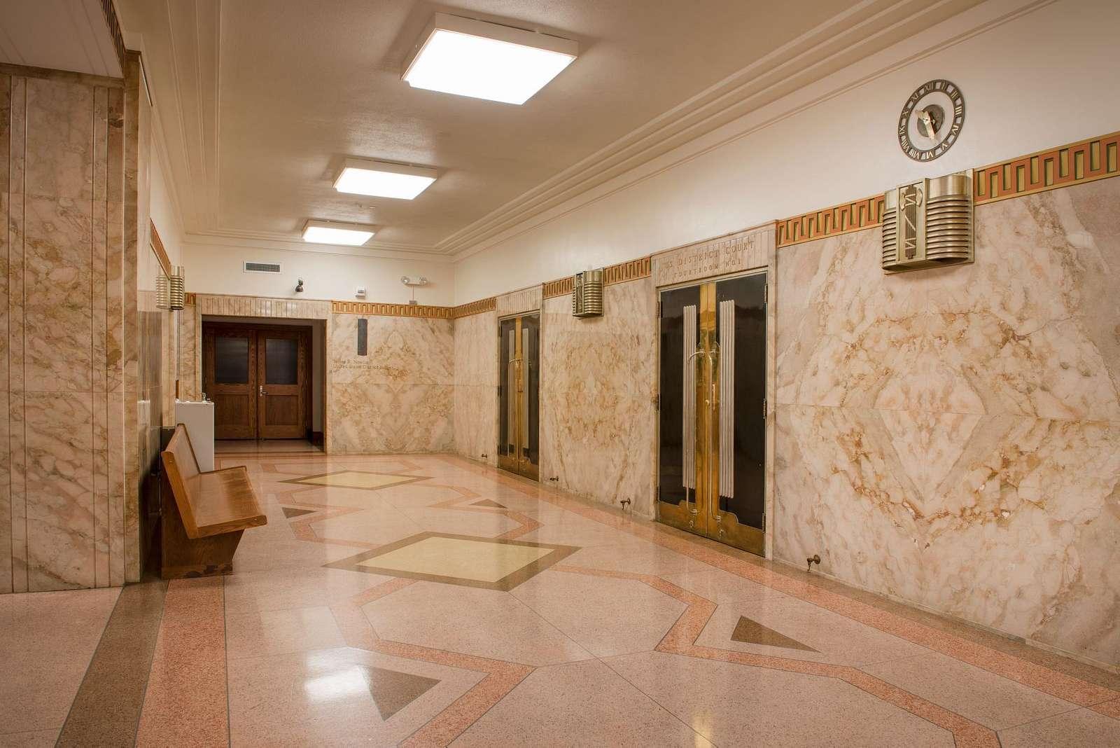 Lobby, U.S. Court House, Austin, Texas