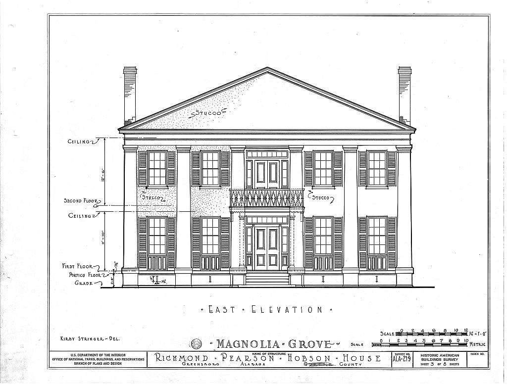 Magnolia Grove, 1002 Hobson Street, Greensboro, Hale County, AL