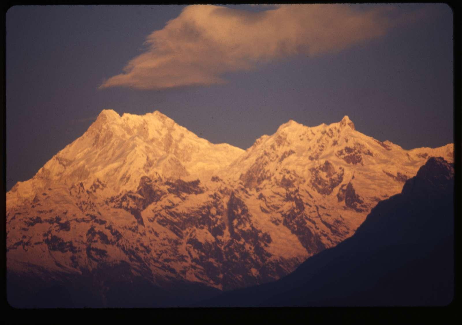 [Mount Kānchenjunga, third highest mountain in the world]