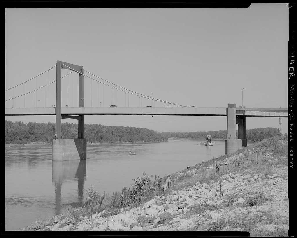 Paseo Bridge, Spanning Missouri River on Interstate 29/35, Kansas City, Jackson County, MO