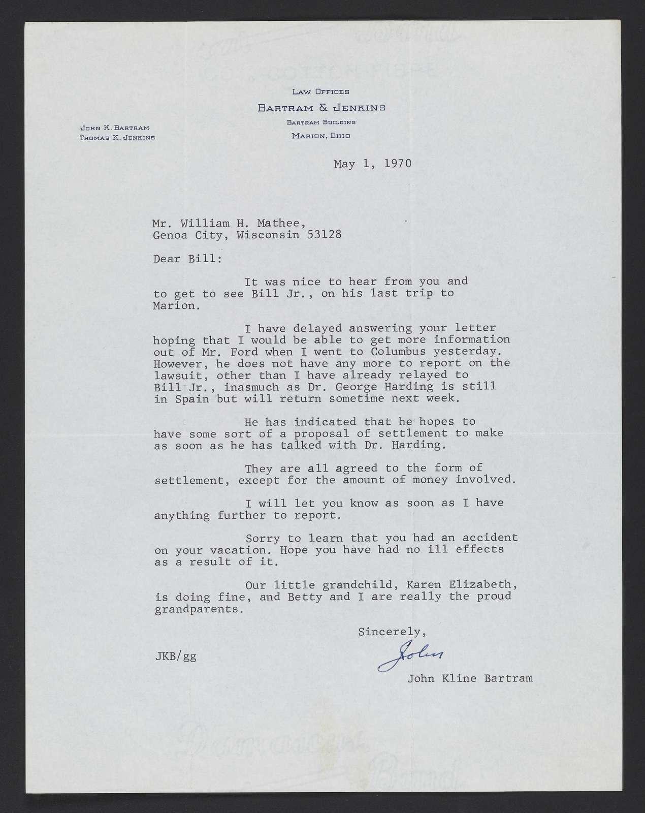 Phillips / Mathée Collection: Legal correspondence, 1964-1971