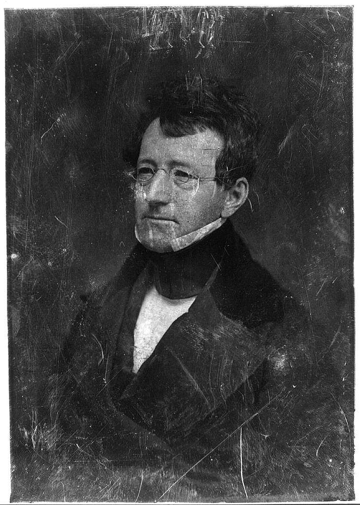[Samuel G. Goodrich, head-and-shoulders portrait, three-quarters to the left, wearing spectacles]