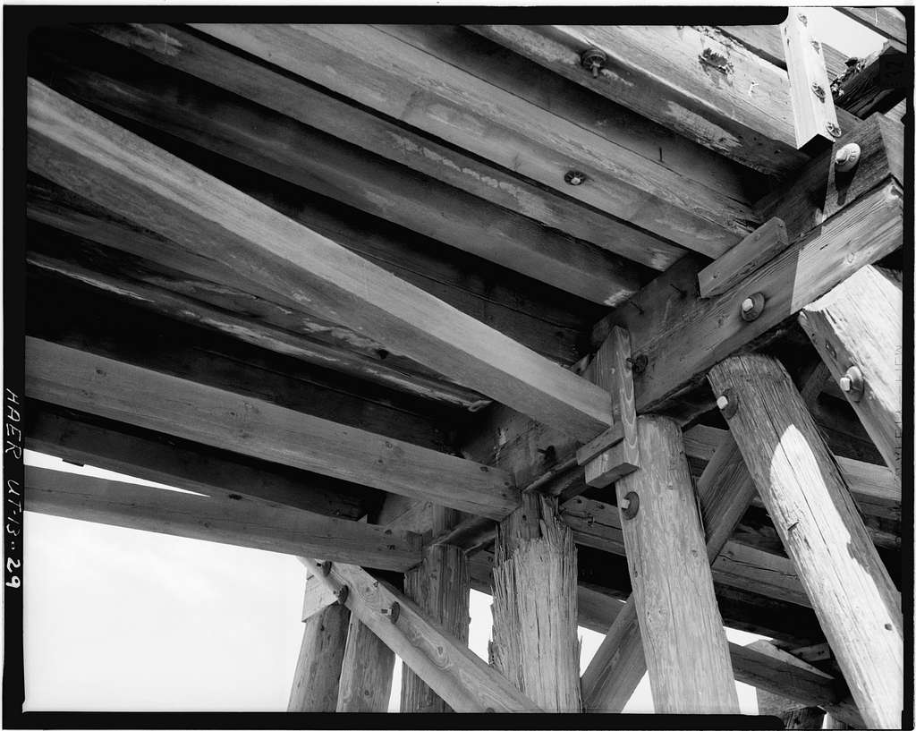 Southern Pacific Railroad, Ogden-Lucin Cutoff Trestle, Spanning Great Salt Lake, Brigham City, Box Elder County, UT