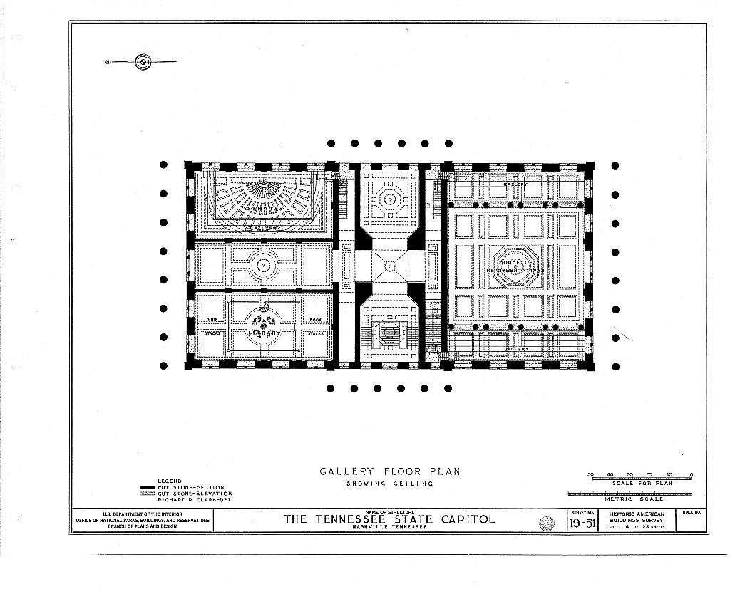 State Capitol, State Capitol Boulevard & Cedar Street, Nashville, Davidson County, TN