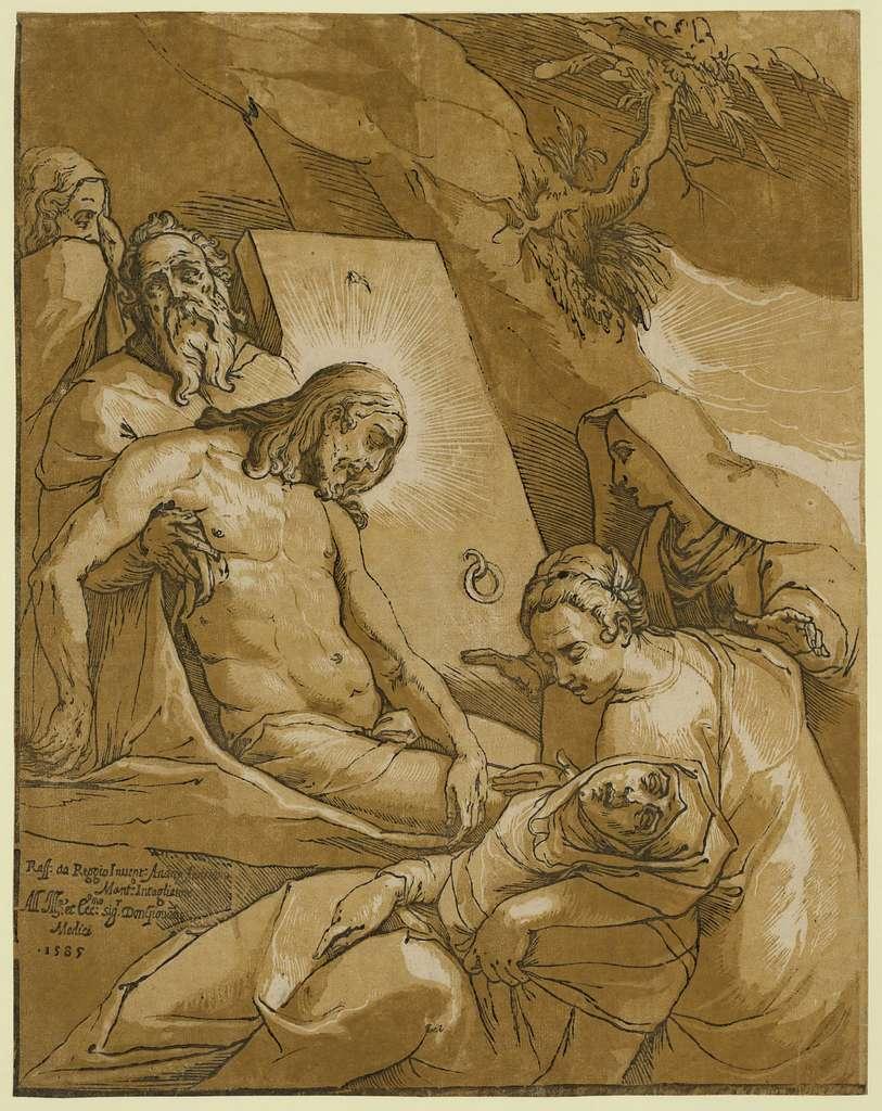 The entombment / Raff. da Reggio invent. Andrea Andreano Mant. intagliator.
