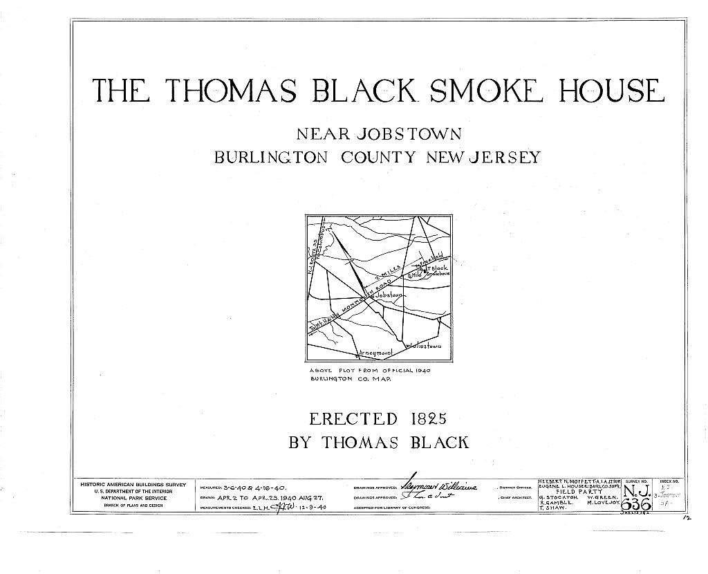 Thomas Black Smokehouse, Monmouth Road, Jobstown, Burlington County, NJ