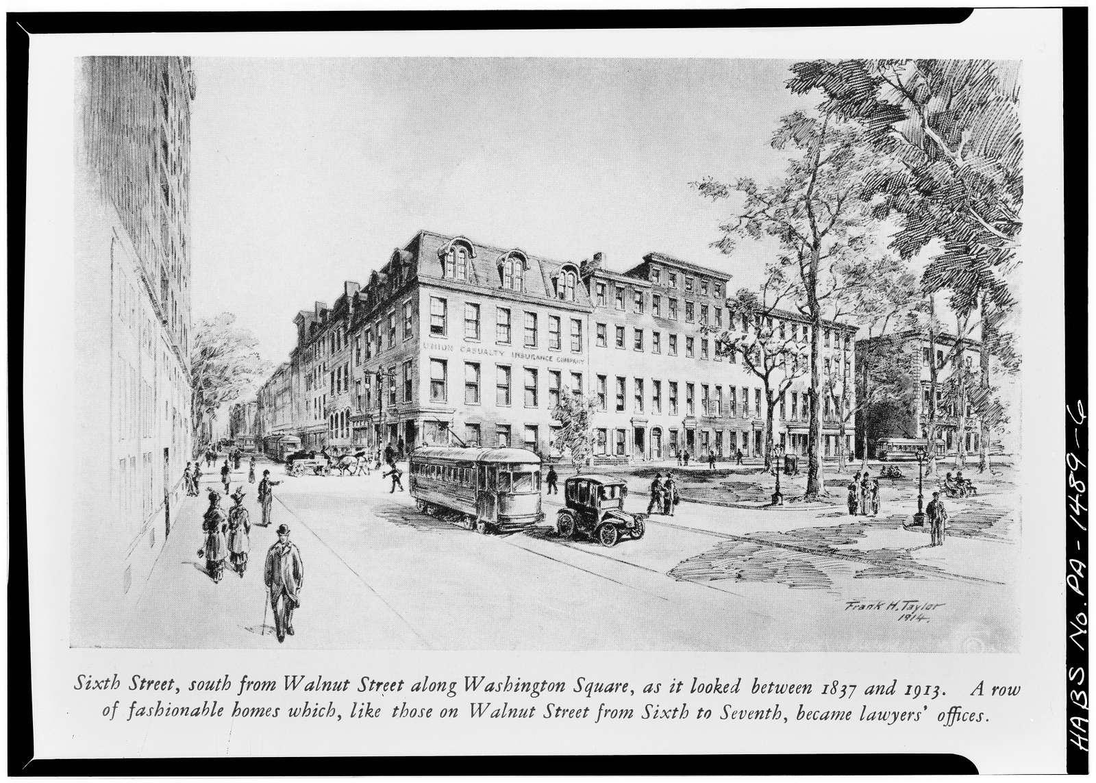 Washington Square Area Study, Sixth, Seventh, Walnut & Locust Streets, Philadelphia, Philadelphia County, PA