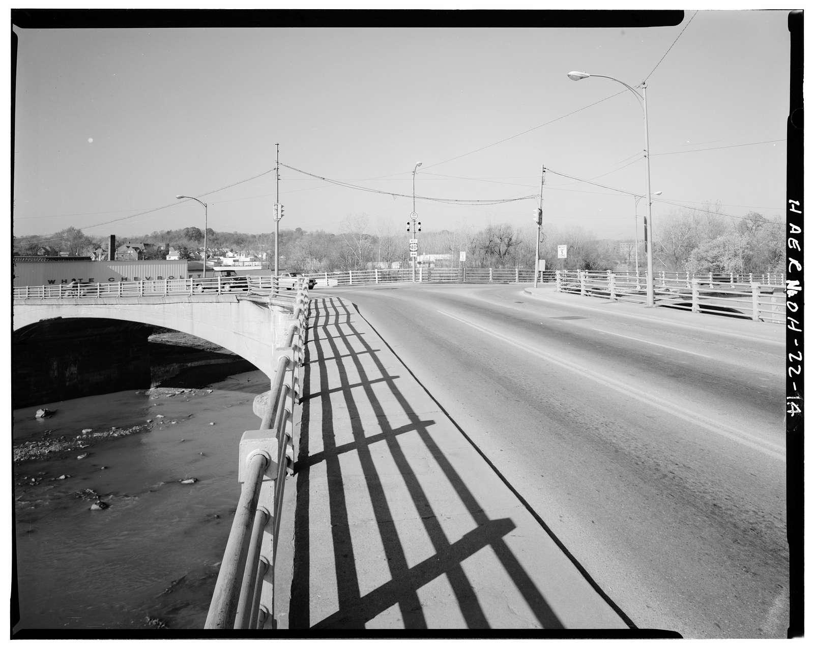 Y-Bridge, Spanning confluence of Muskingham & Licking Rivers, Zanesville, Muskingum County, OH