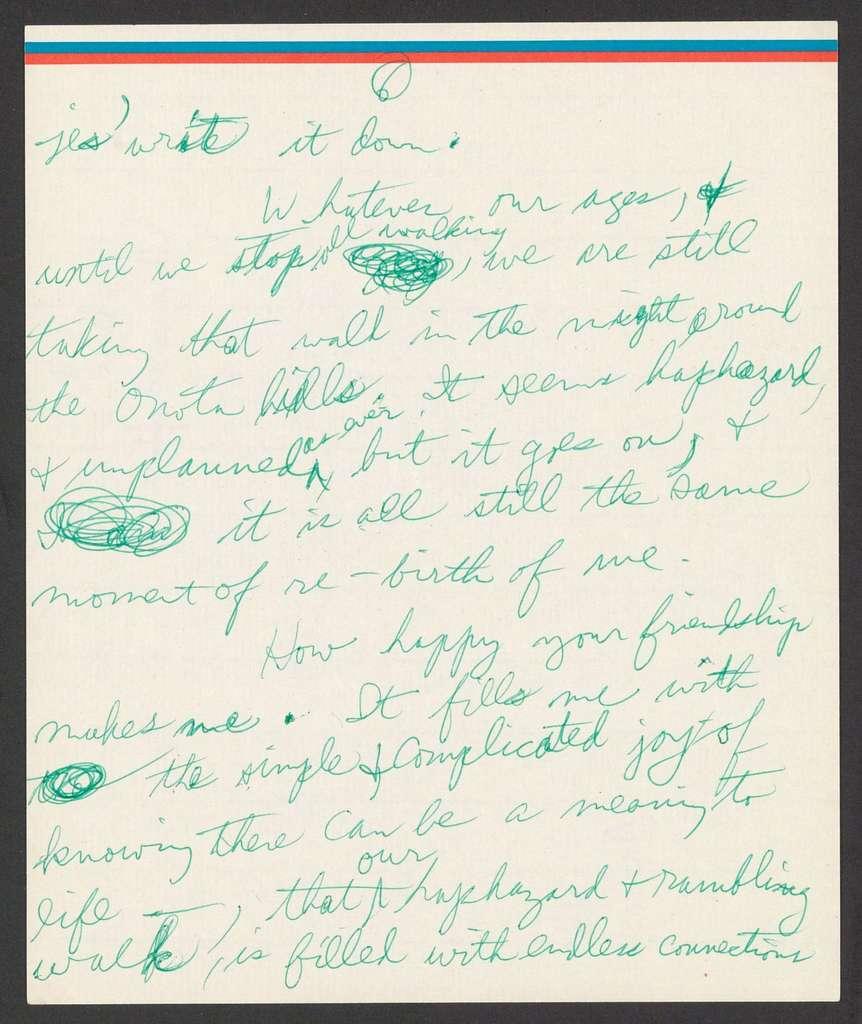 Adolph Green to Leonard Bernstein, n.d