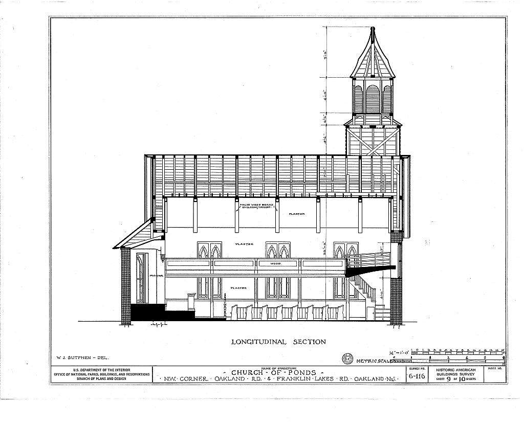 Church of Ponds, Oakland & Franklin Lakes Road, Oakland, Bergen County, NJ