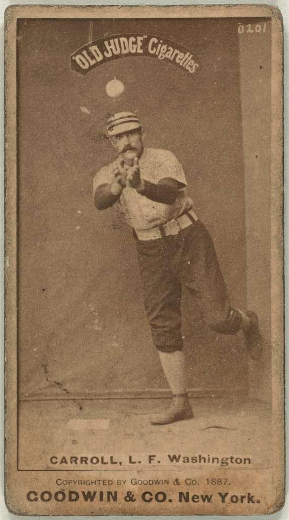 [Cliff Carroll, Washington Statesmen, baseball card portrait]