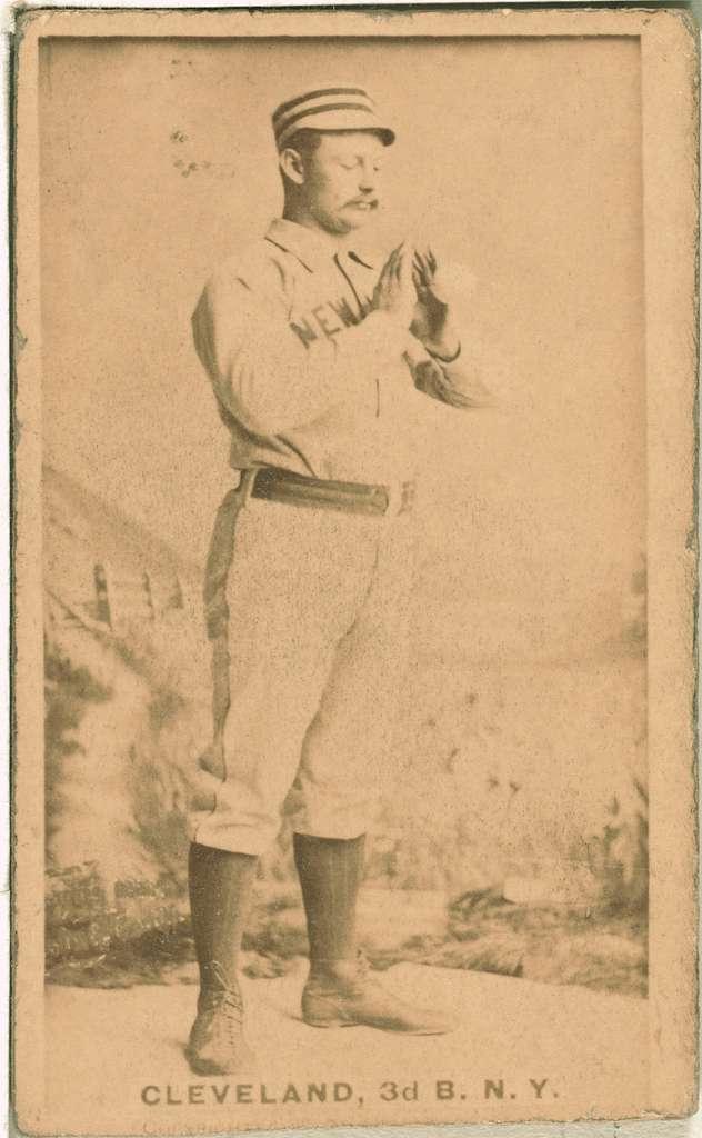 [Elmer Cleveland, New York Giants, baseball card portrait]