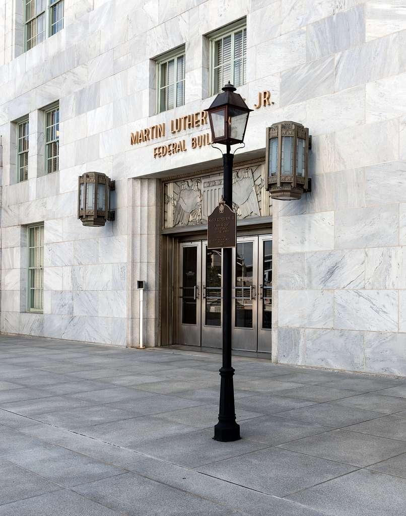 Entrance doors, Martin Luther King, Jr., Federal Building, Atlanta, Georgia